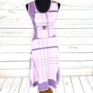 Super Cute Purple Plaid LuLaRoe Nicki Dress L